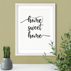 "Druck ""home sweet home"""
